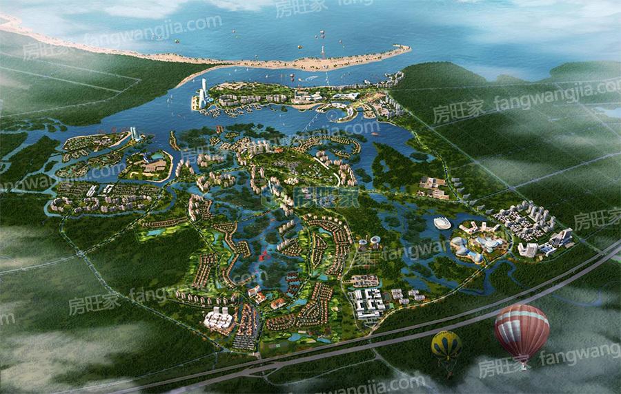 富力红树湾全景效果图