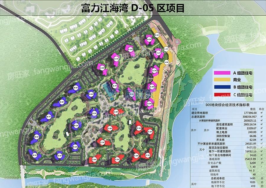 富力悦海湾一期临澜苑(D-05区)规划图
