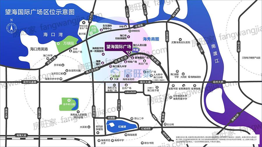 海口望海国际精装公寓区位图