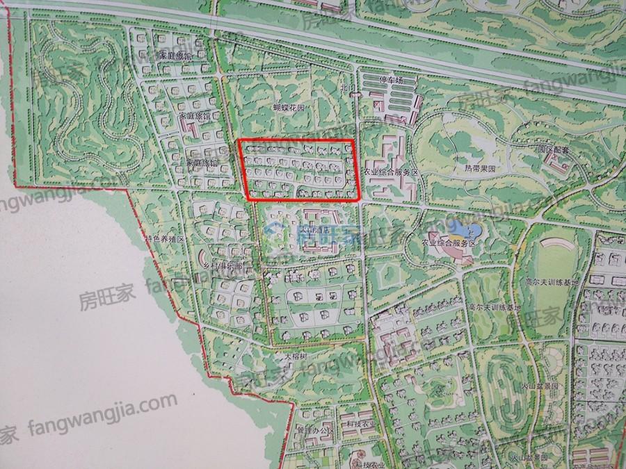 海口魁星月明山庄整体规划图