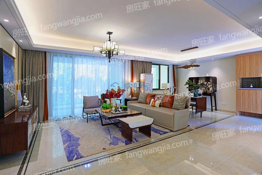 绿地城江东首府建面139平样板间:客厅