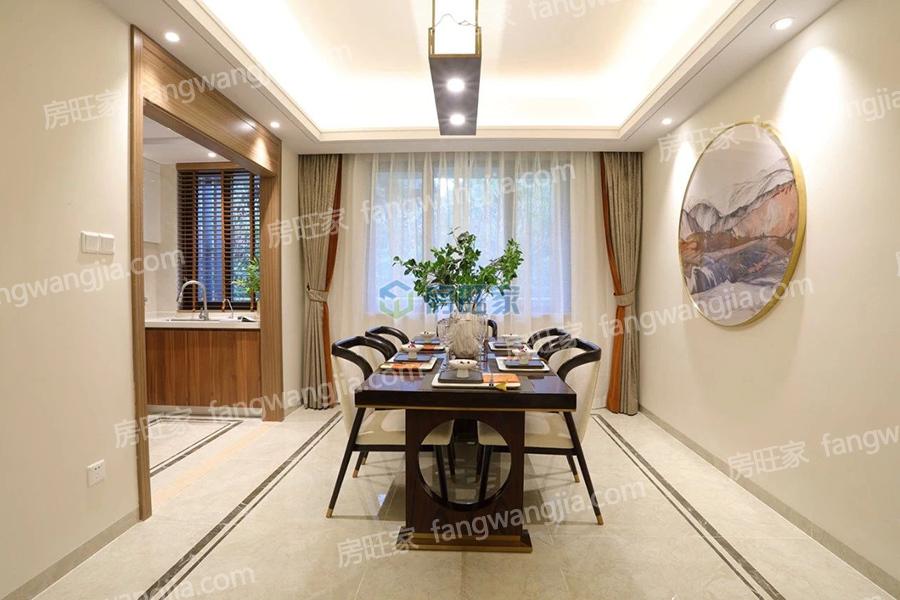 绿地城江东首府建面139平样板间:餐厅