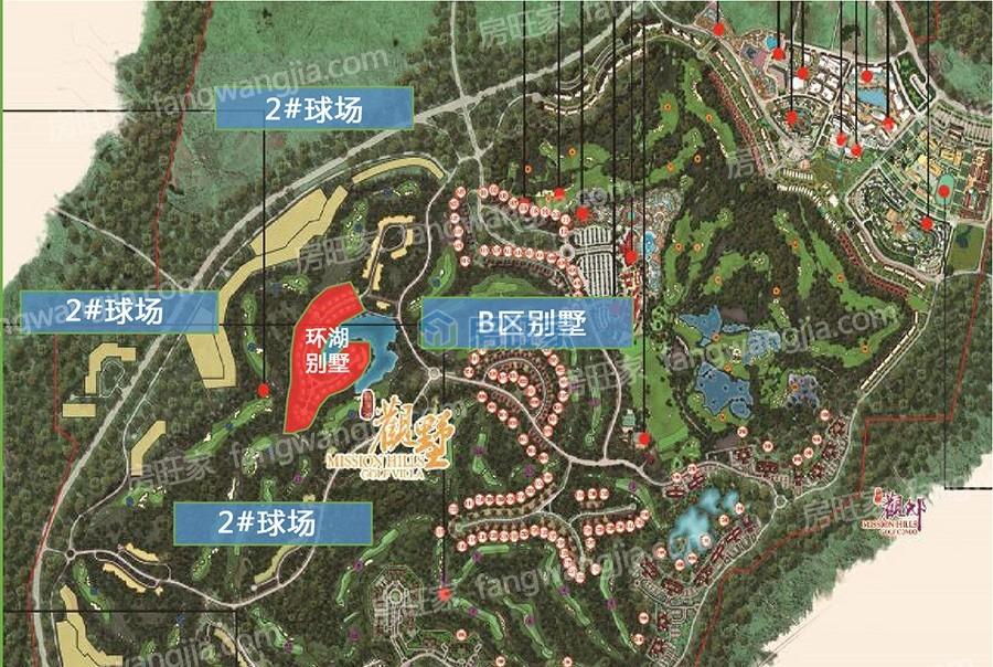 观澜湖澜墅内部区位图