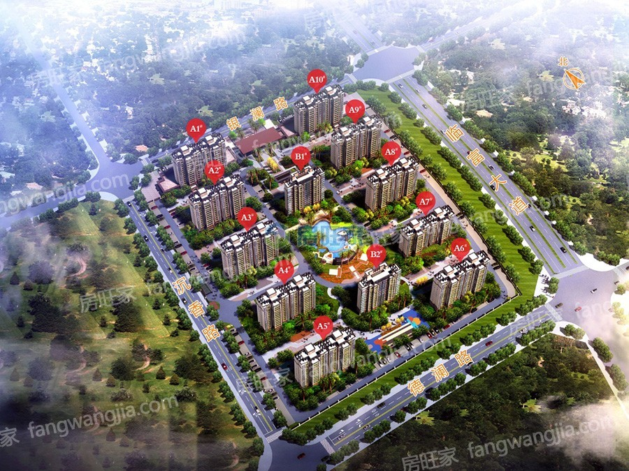 新合鑫观悦城整体规划图