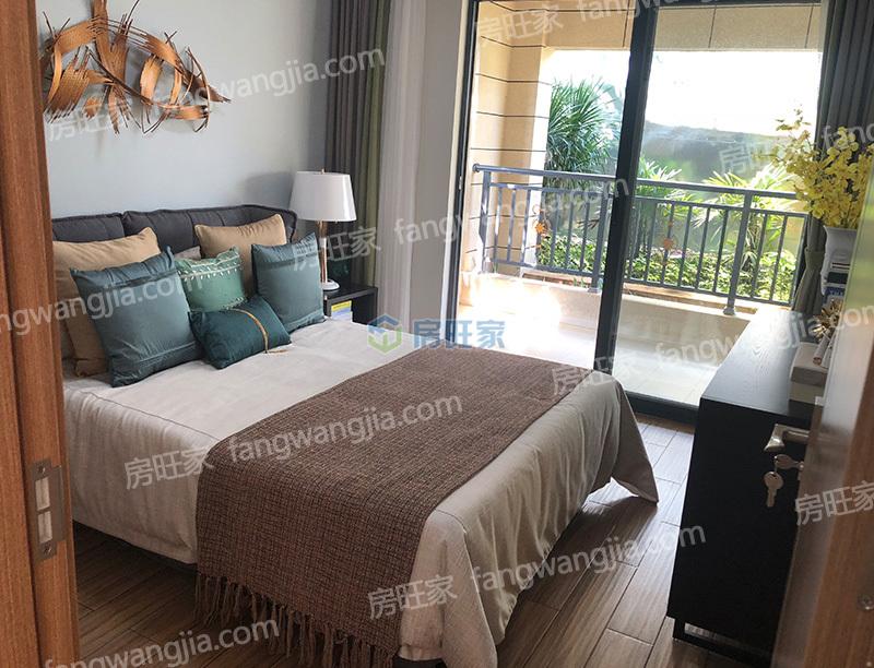 新合鑫观悦城建面108平户型样板间之卧室