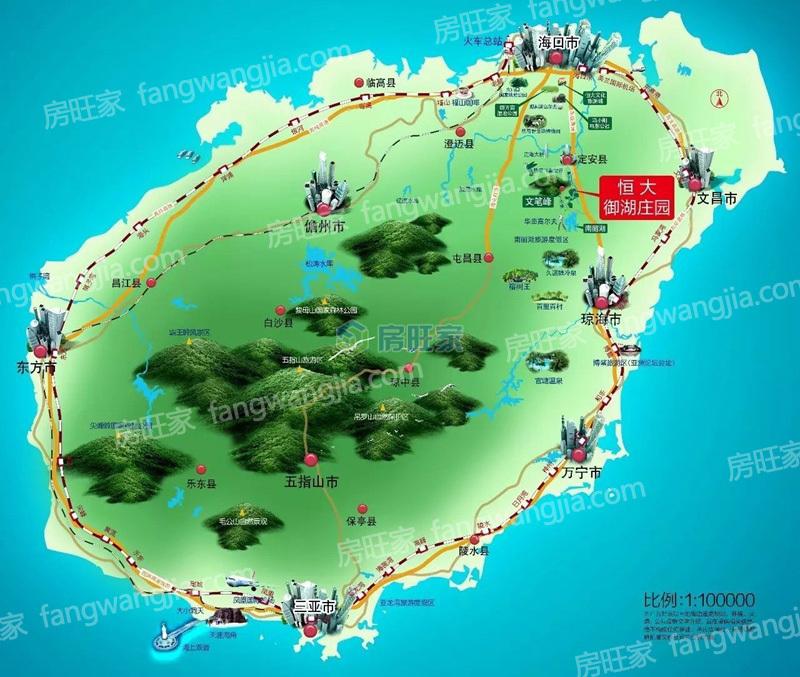 恒大御湖庄园区位图