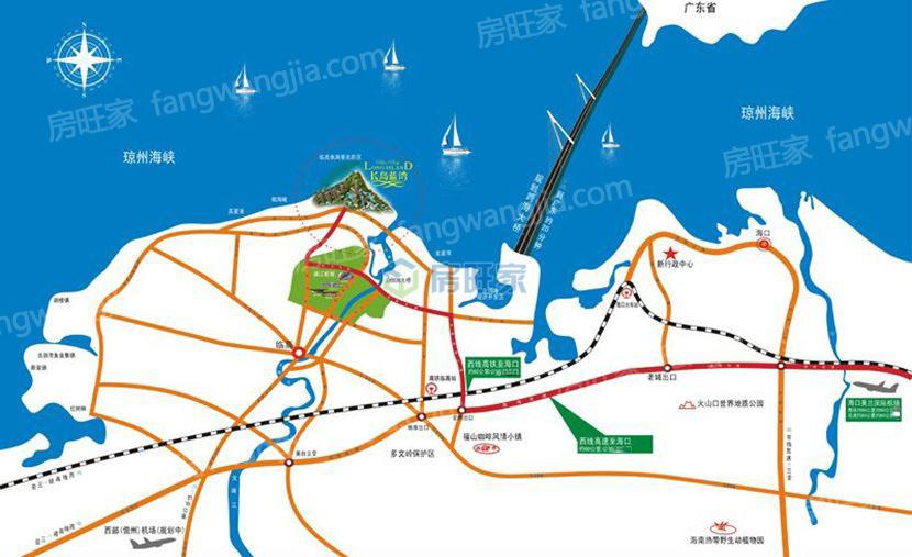 长岛蓝湾交通区位图