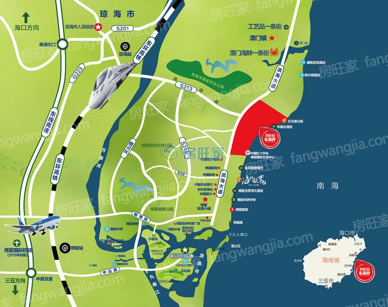 碧桂园东海岸区位图