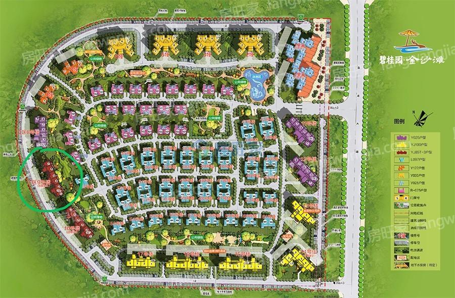 碧桂园金沙滩三期海泉湾规划平面图