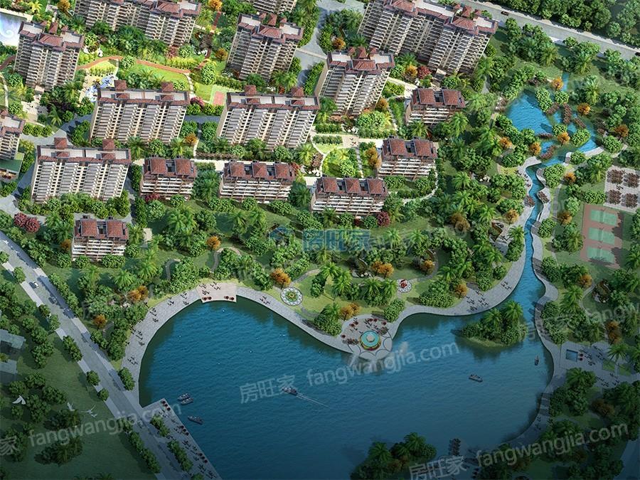 碧桂园海棠盛世生态湖公园效果图