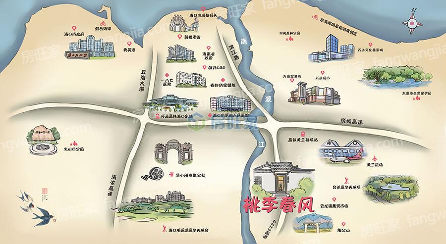 绿城桃李春风区位图
