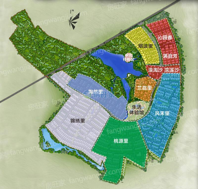 绿城桃李春风整体规划图