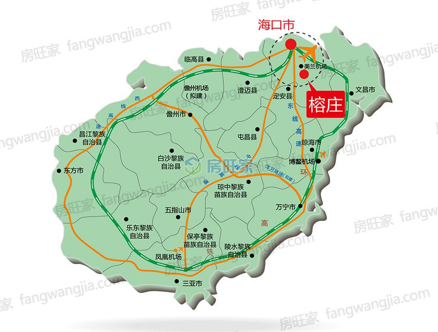 云龙榕庄区位图