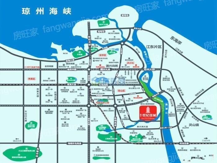 滨江世纪佳城区位图