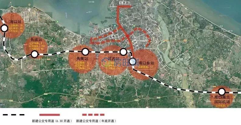 海口市域列车站点图