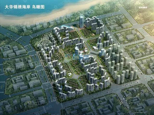 大华锦绣海岸整体鸟瞰图