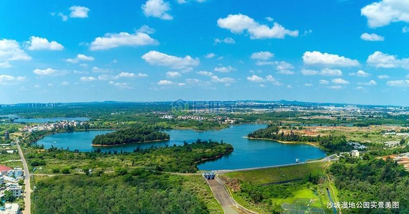 沙坡湿地公园美景图