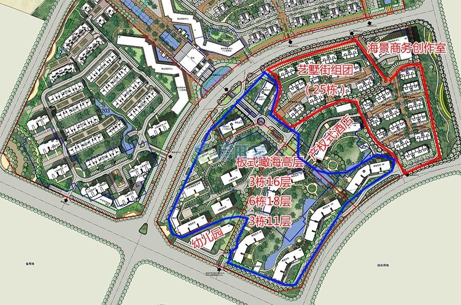 首开美墅湾一期规划及楼栋分布图