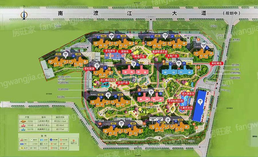 碧桂园公园上城平面规划图