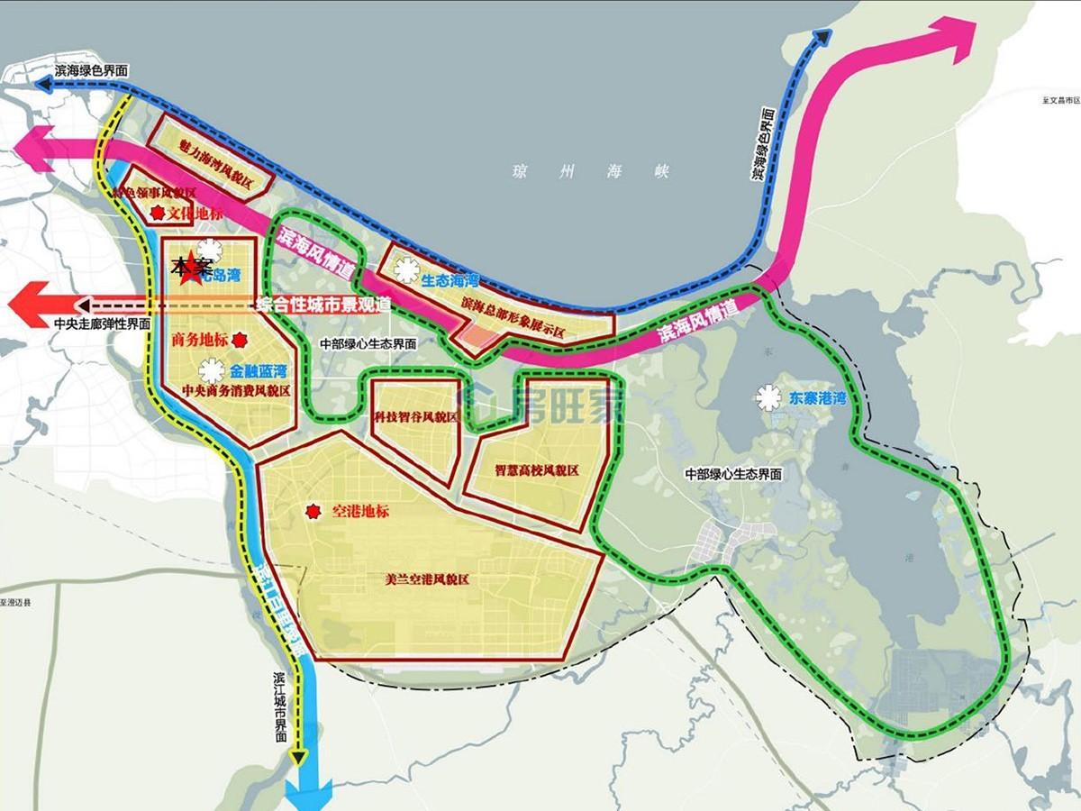海口江东新区规划图