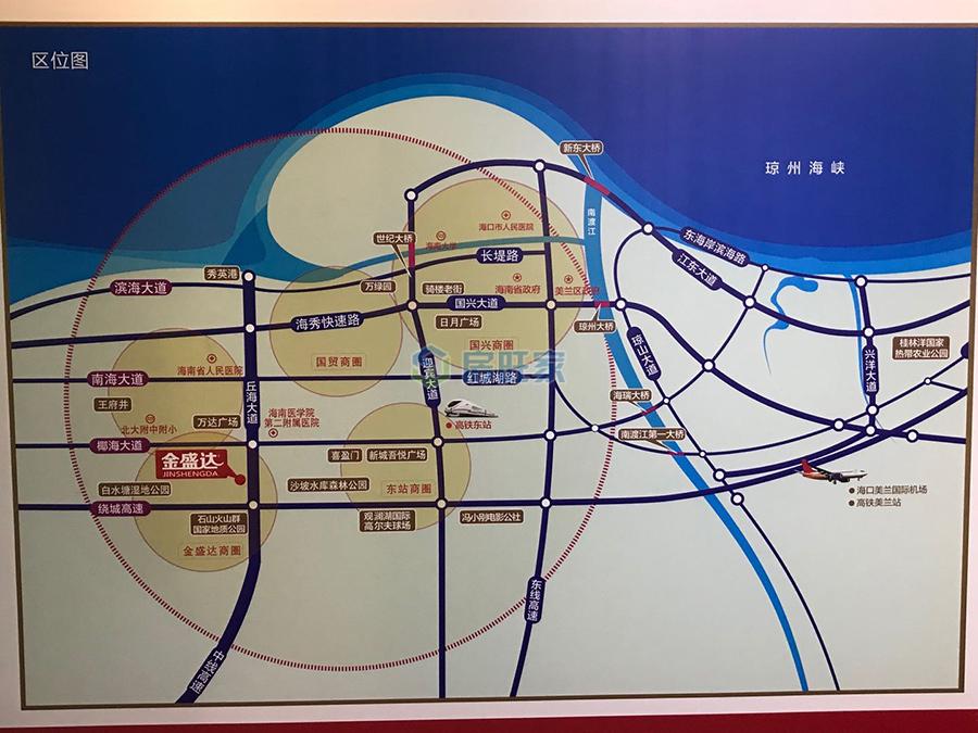 金盛达建材家具广场交通区位图