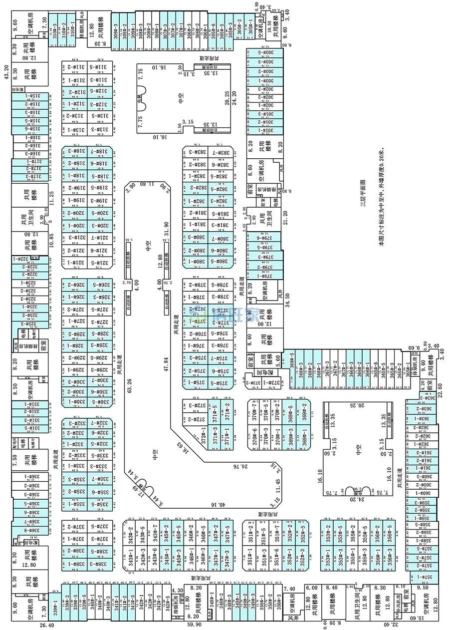 金盛达建材家具广场三层户型分布图