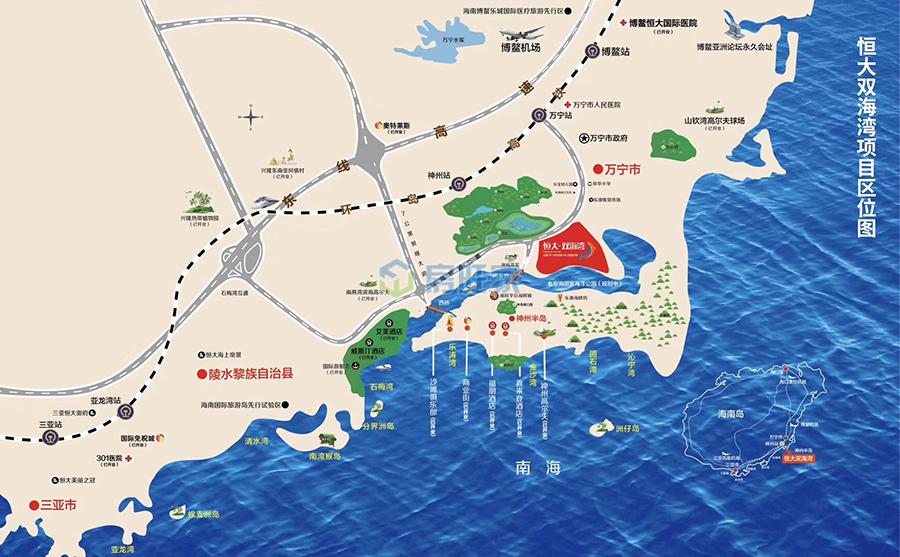 恒大双海湾区位交通图