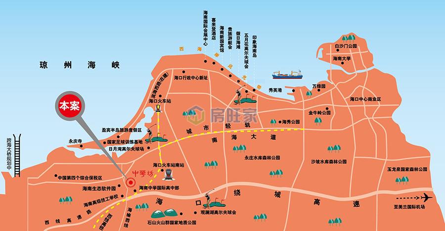 中华坊交通区位图