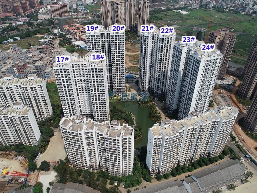 中华坊三期海棠园楼栋分布航拍图