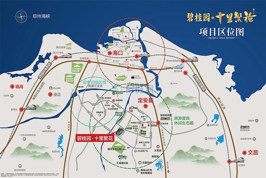 碧桂园十里繁花区位交通图
