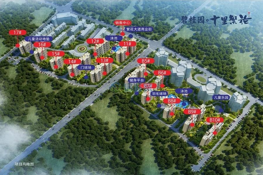 碧桂园十里繁花整体规划图