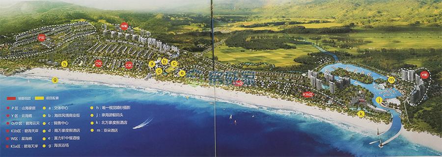 海南富力湾整体规划图