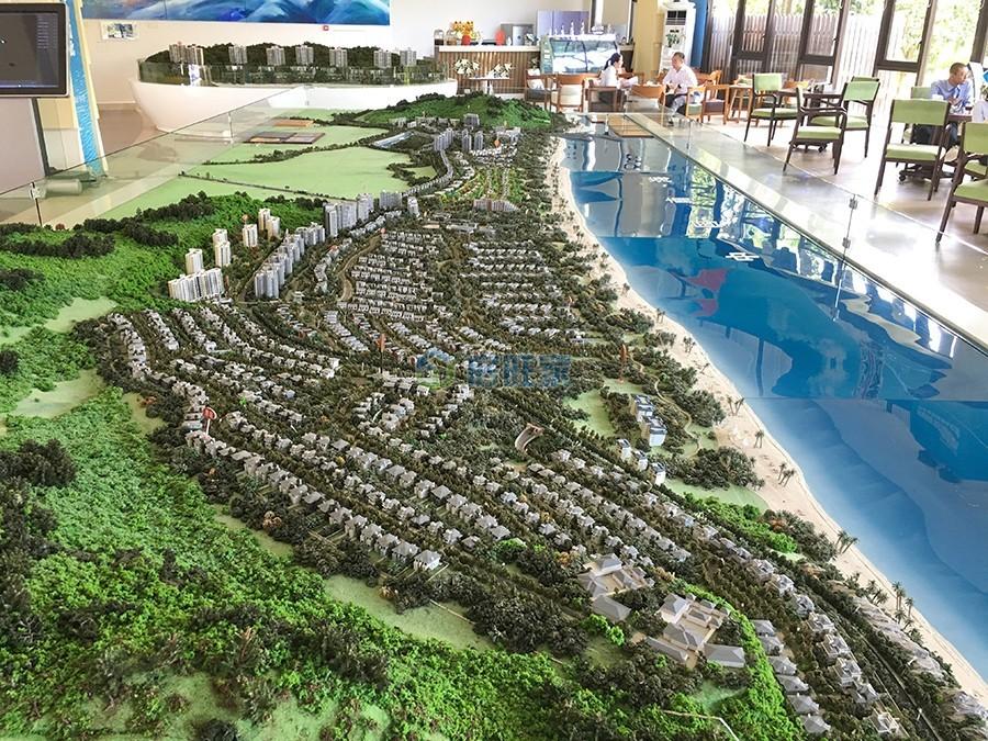 海南富力湾沙盘实景图