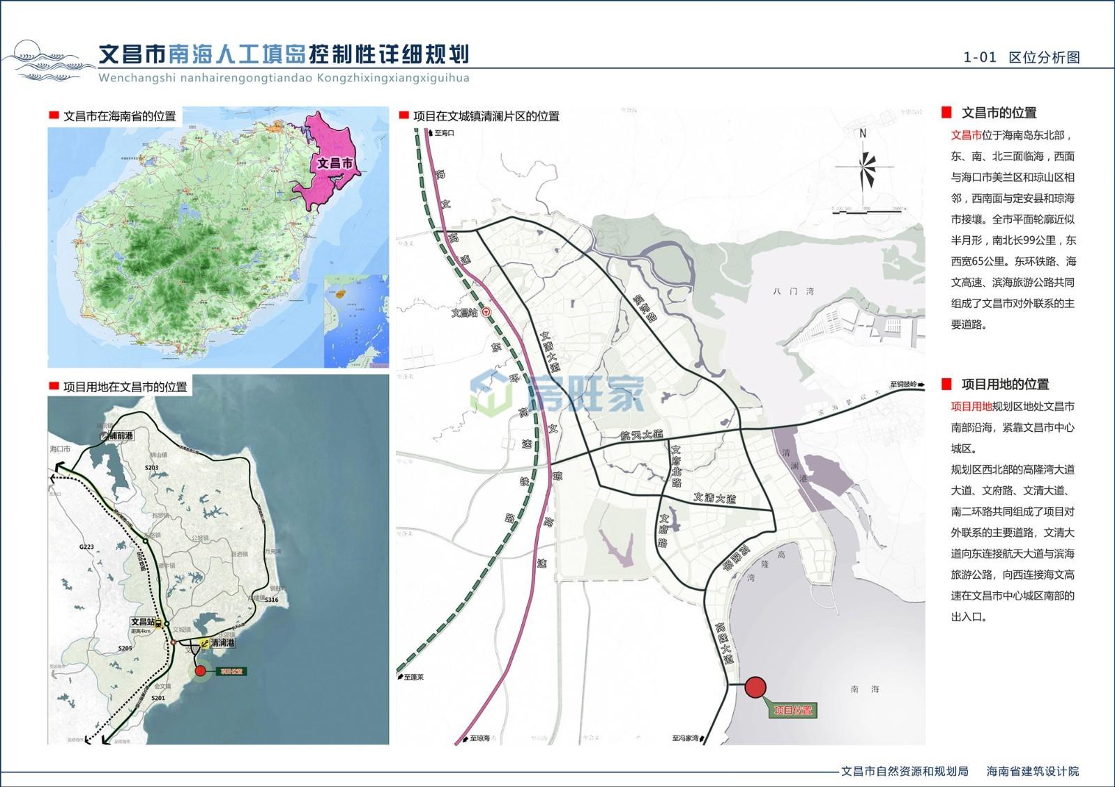 文昌南海人工岛区位分析图