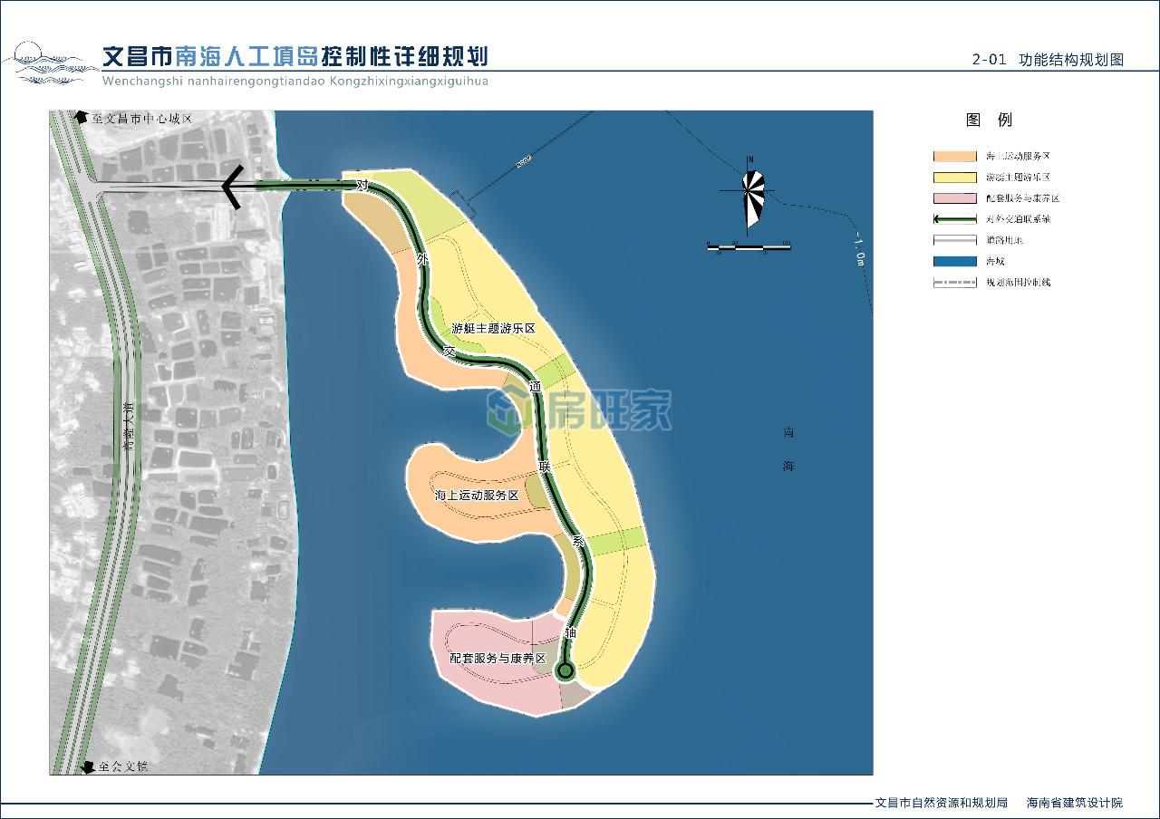文昌南海人工岛功能结构规划图