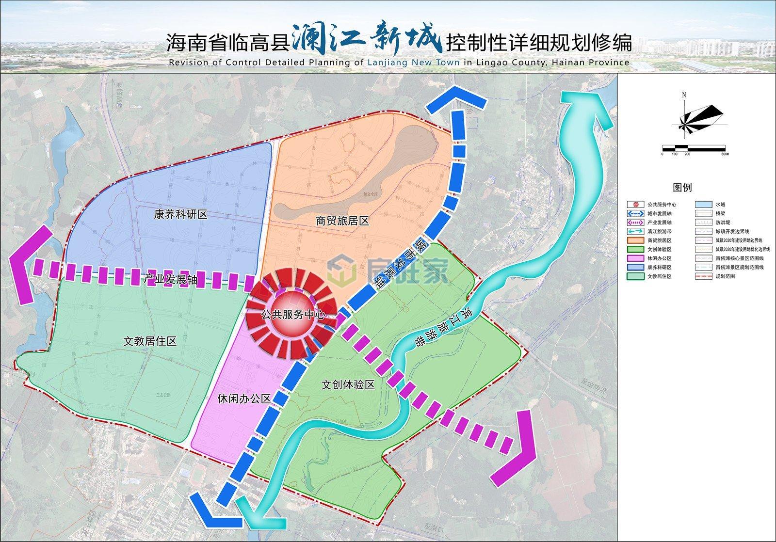 澜江新城功能结构规划图