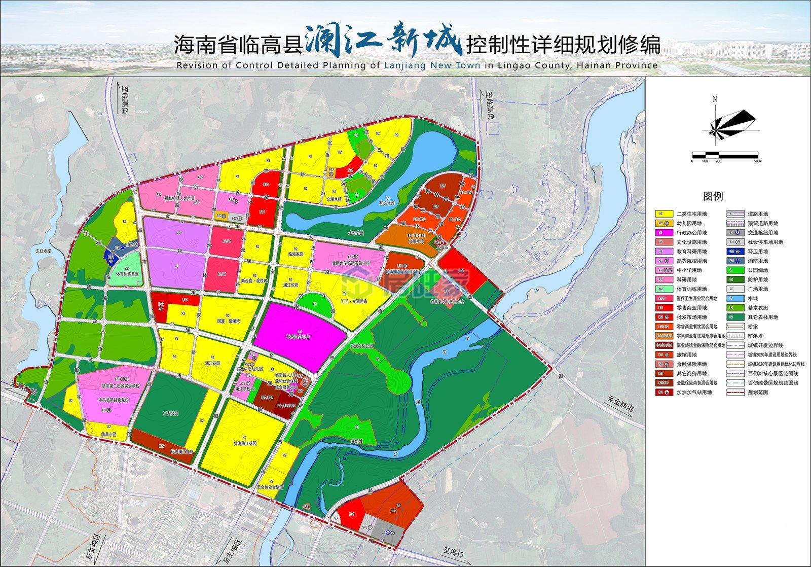 澜江新城土地使用规划图