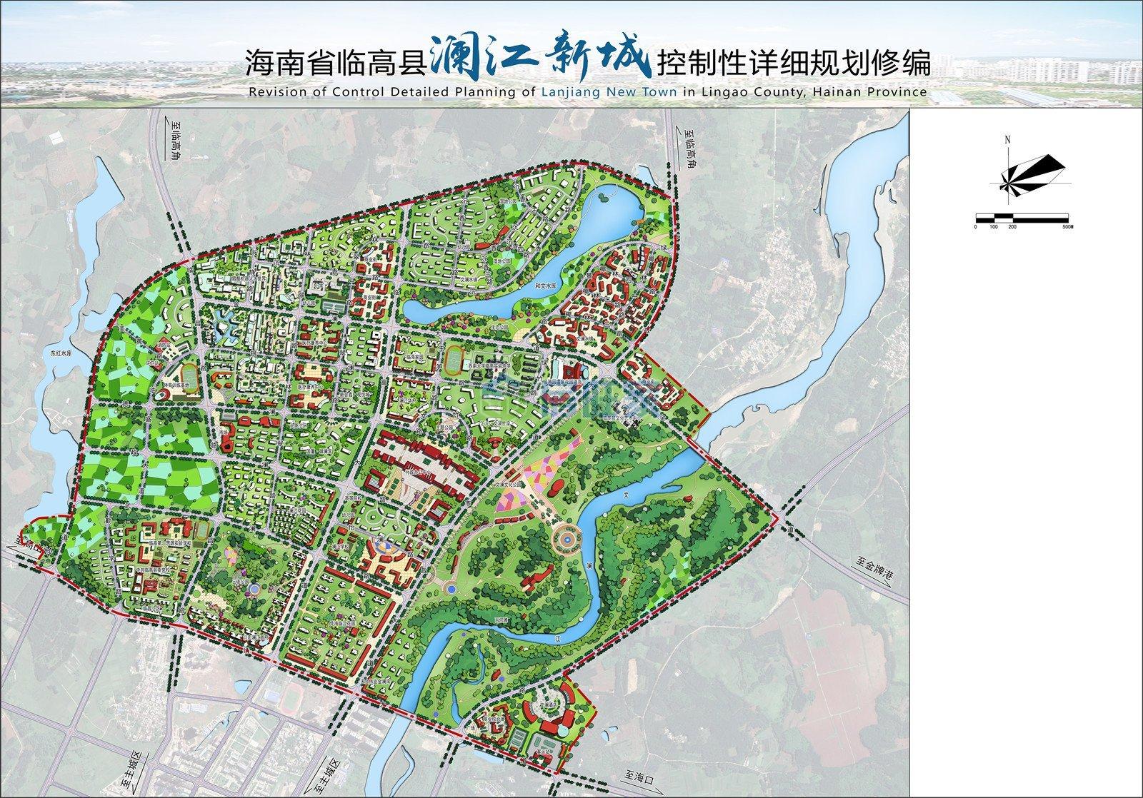 澜江新城城市设计总平面图