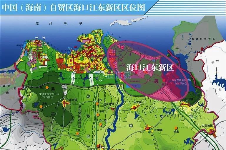 海口江东新区区位图