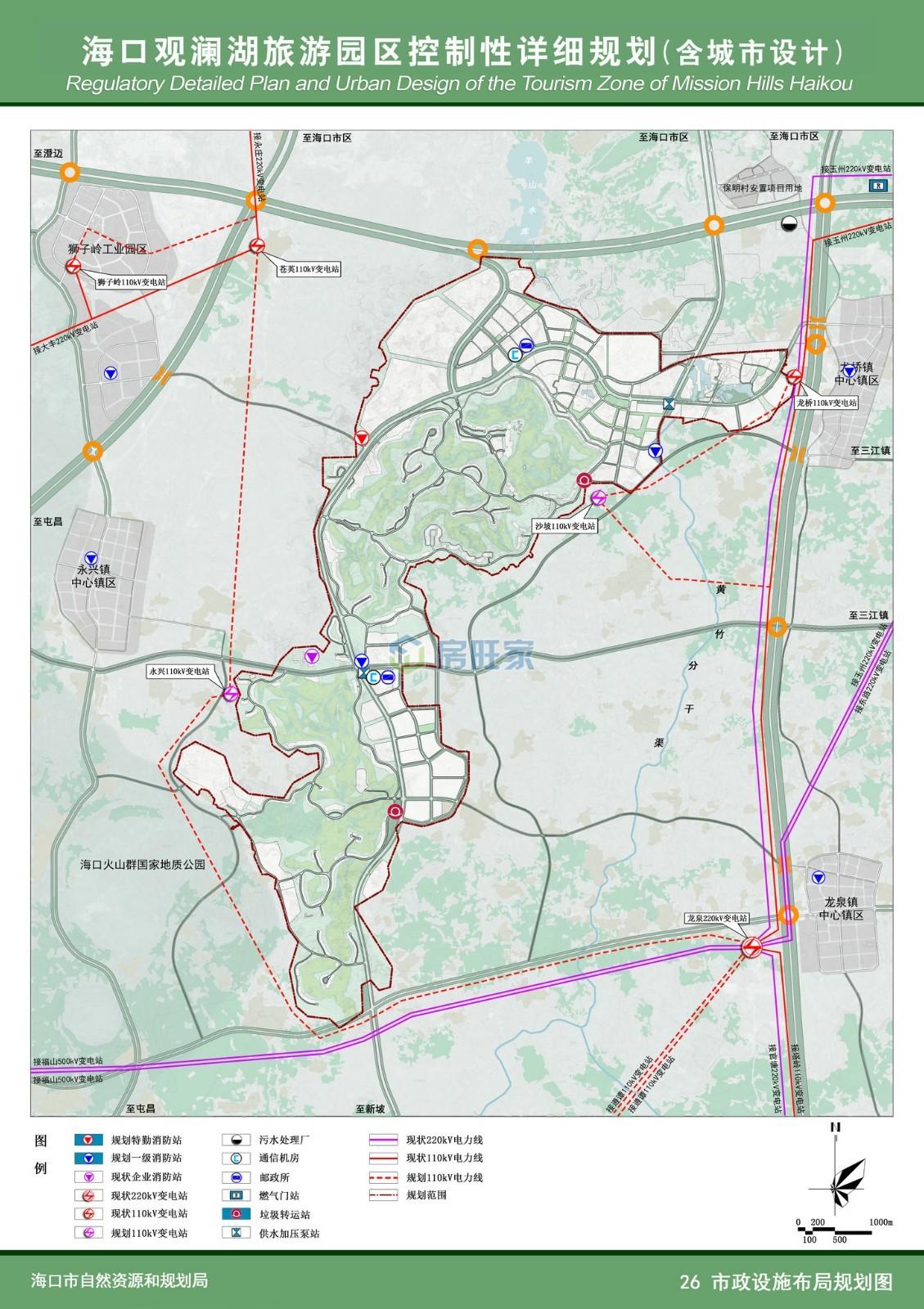 观澜湖市政设施布局规划图