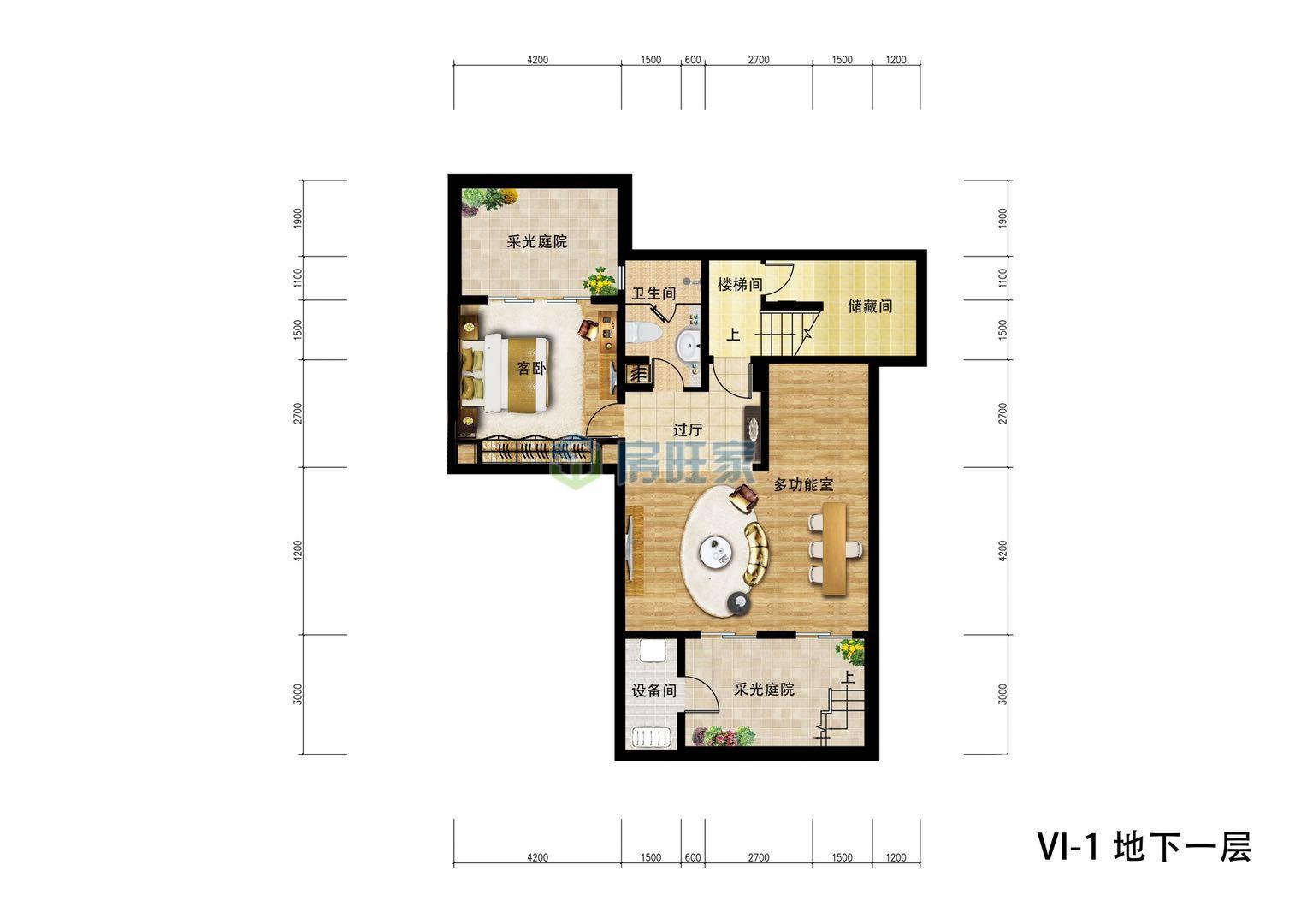 金泰南燕湾别墅VI-I户型 地下一层平面图