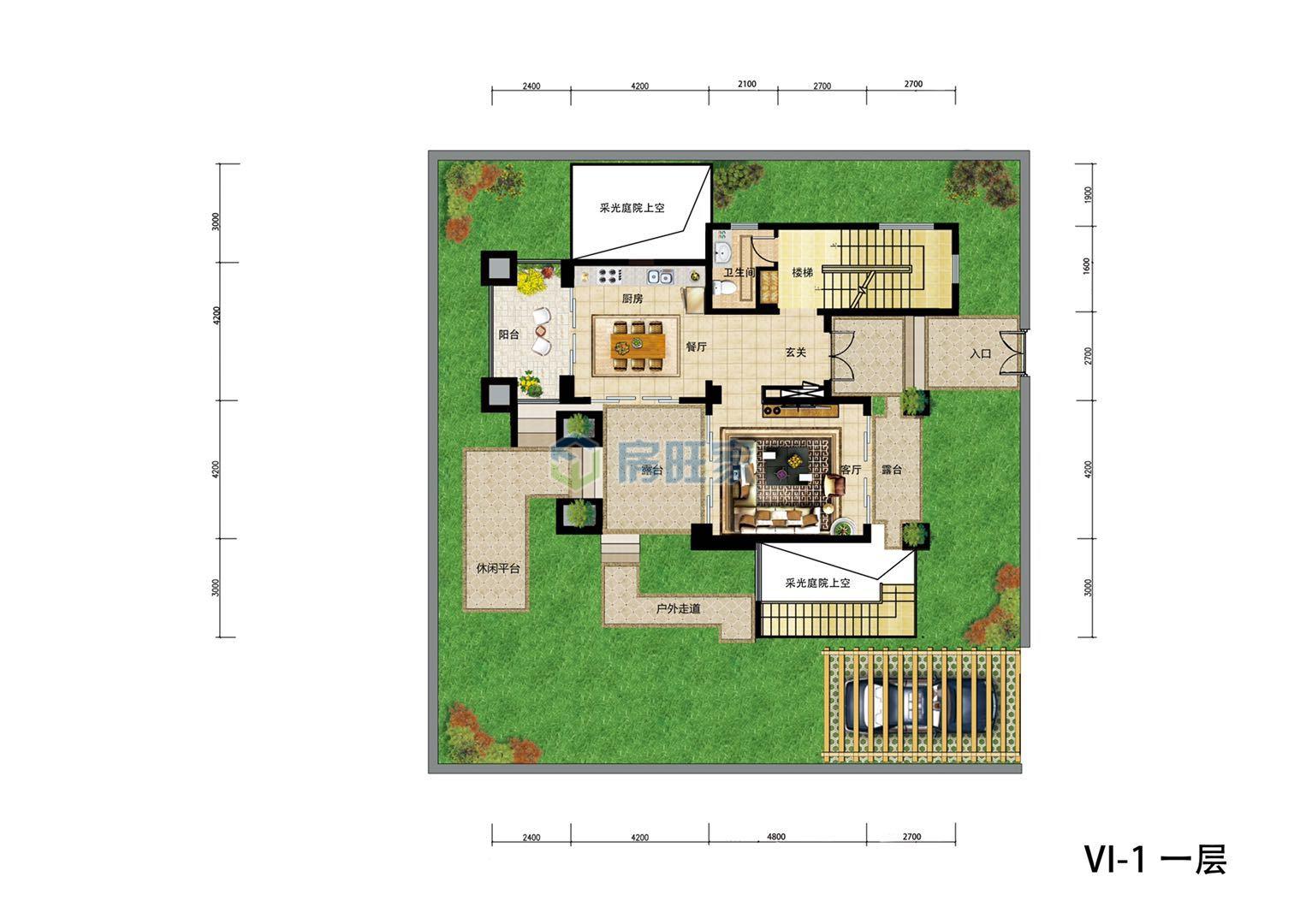 金泰南燕湾别墅VI-I户型 一层平面图