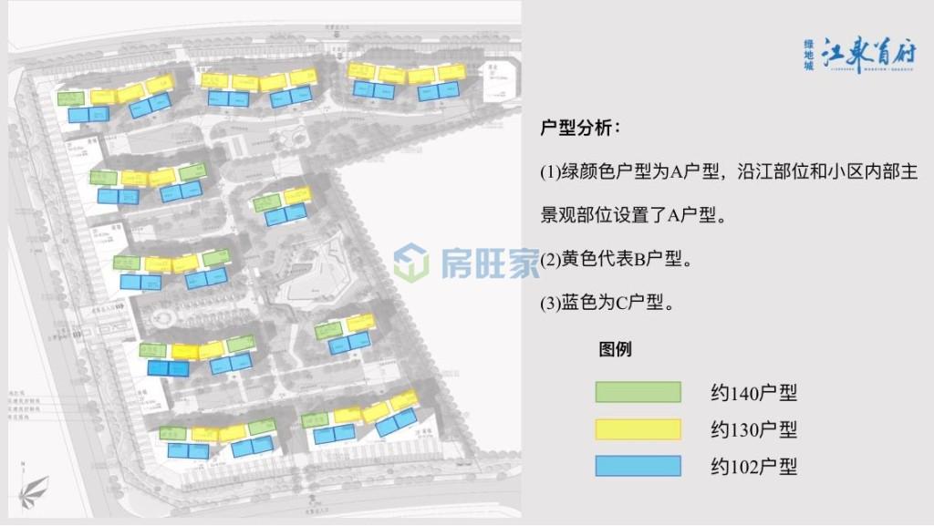 绿地城江东首府户型分布图