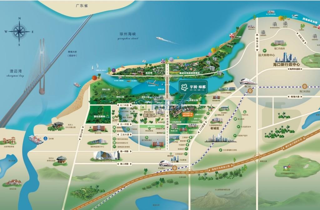 宇润绿都交通区位图