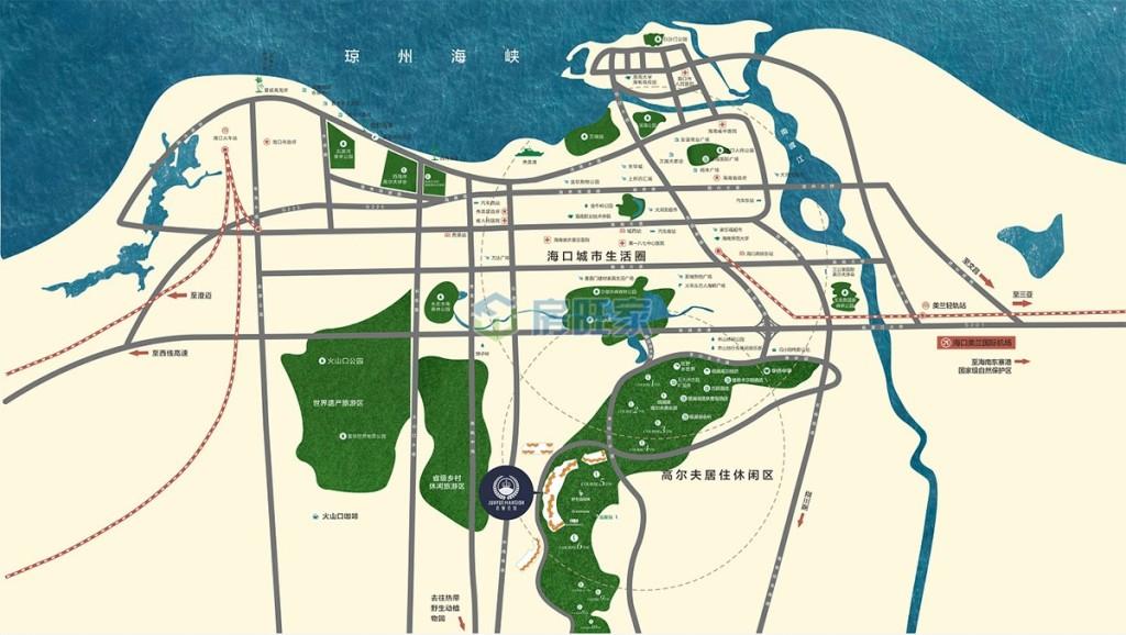 观澜湖君悦公馆区位交通图