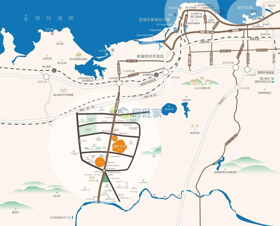 融创玖园交通区位图
