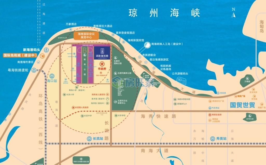 滨海新天地交通区位图