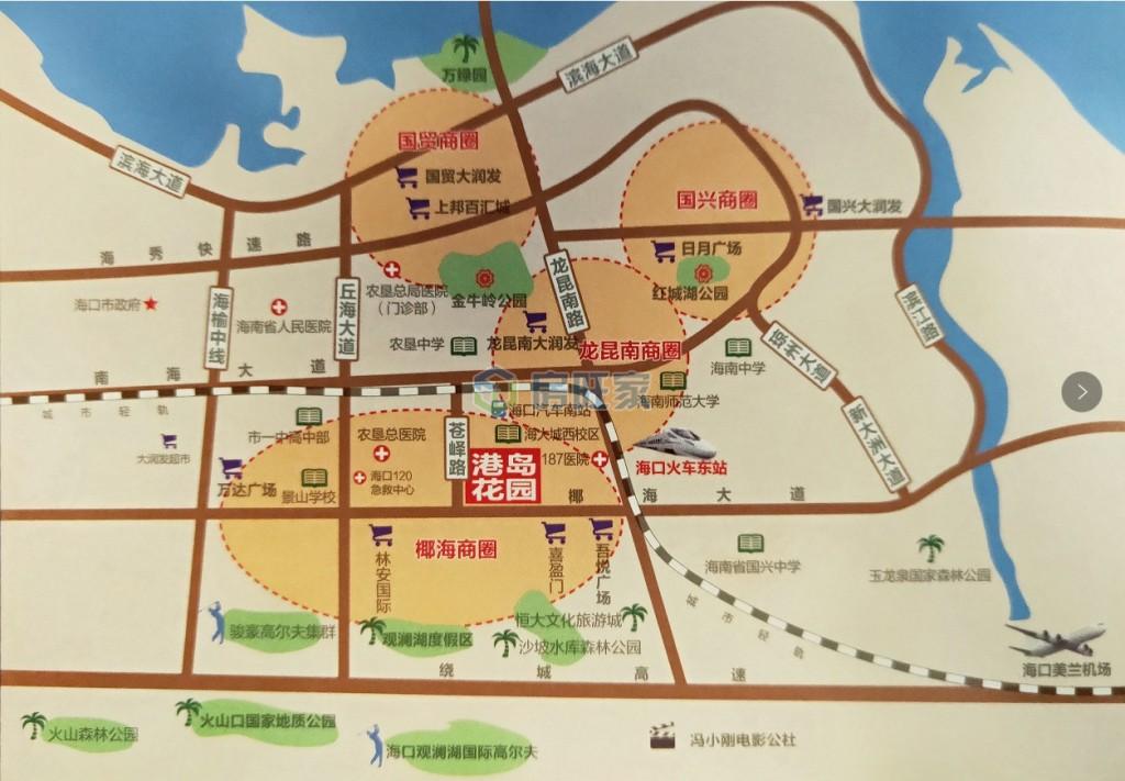 港岛花园交通区位图