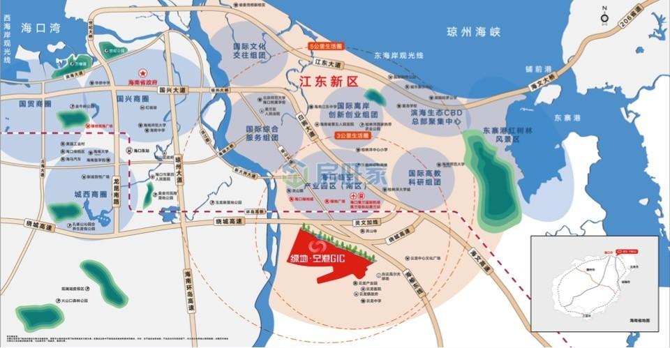 绿地空港GIC区位交通图