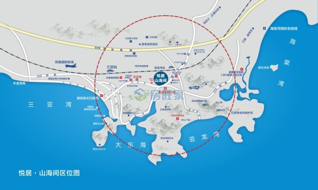 悦居山海间交通图